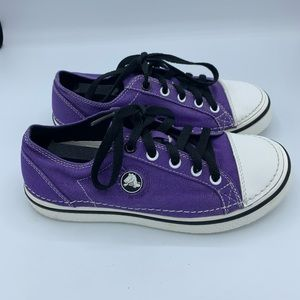 Crocs shoes purple junior 5